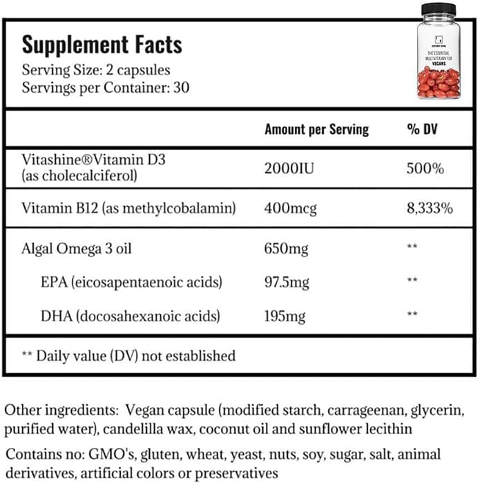 Future Kind Vegan Supplement Facts